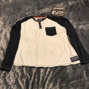BROKEN THREADS Henley Style Jersey T-Shirt